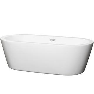 Wyndham Collection Mermaid Freestanding 71-inch Soaking Bathtub