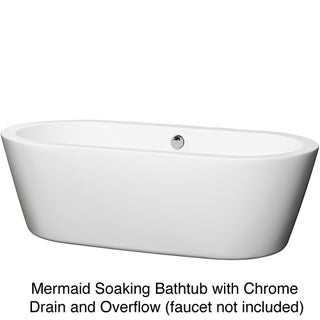 Wyndham Collection Mermaid Freestanding 71-inch Soaking Bathtub (2 options available)