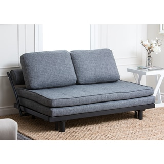 ABBYSON LIVING Florence Graphite Fabric Convertible Sofabed