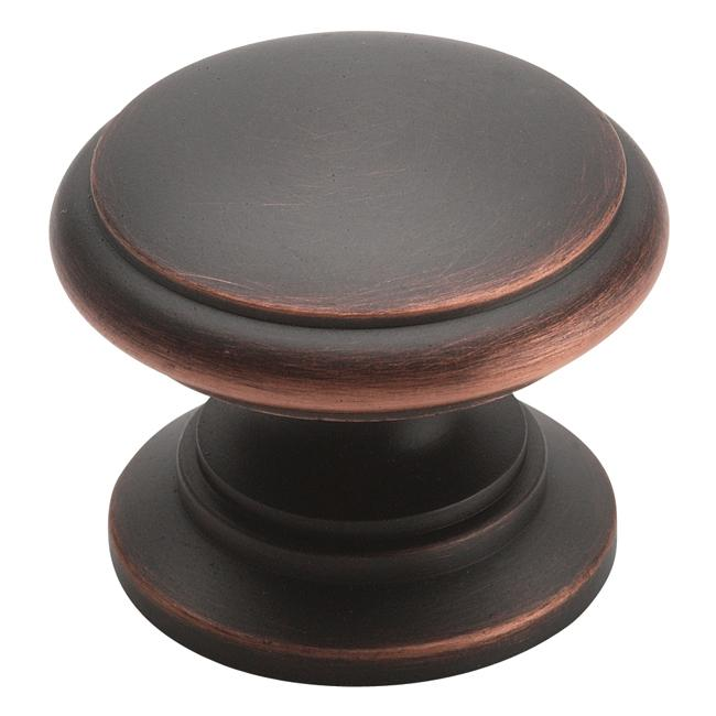Amerock Oil Rubbed Bronze Advantage Solid Brass Knob (Pack of 5)