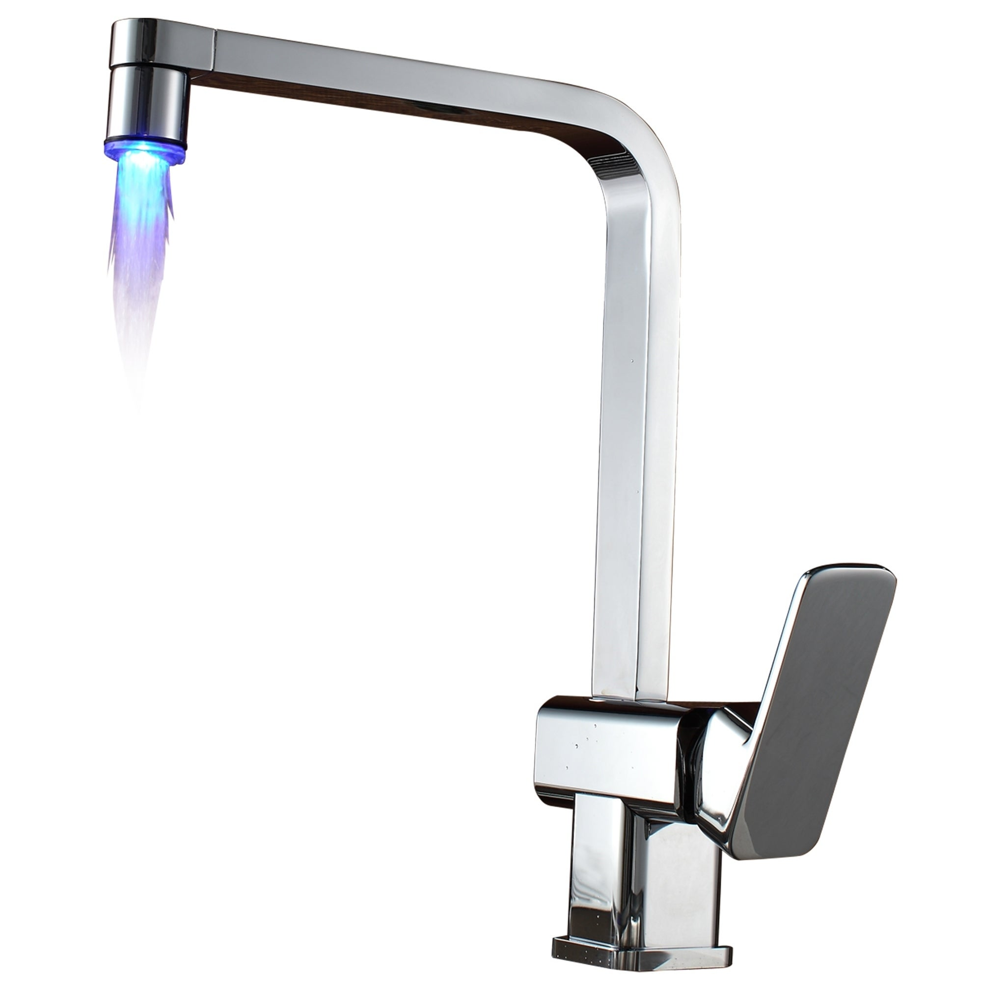 Sumerain LED Kitchen Faucet (Contemporary), Blue waterfall
