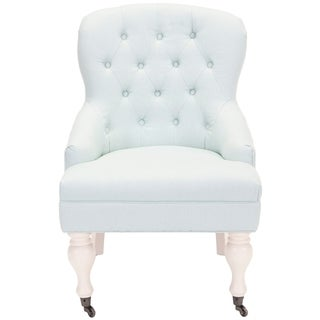 Safavieh Sutton Tufted Robbins Egg Blue Arm Chair