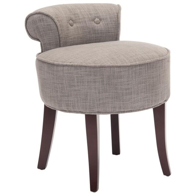 Safavieh Outlet New Rochelle: Safavieh Rochelle Dark Grey Vanity Chair