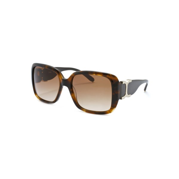2d59d685ddf85 Shop Chloe Women s  Marcie  Dark Tortoise Fashion Sunglasses - Free  Shipping Today - Overstock - 6462888