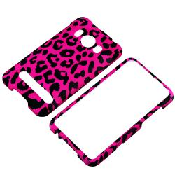 Pink Leopard Snap-on Rubber Coated Case for HTC EVO 4G - Thumbnail 1