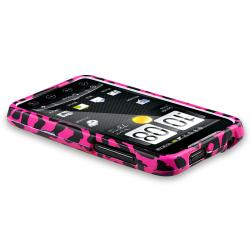 Pink Leopard Snap-on Rubber Coated Case for HTC EVO 4G - Thumbnail 2