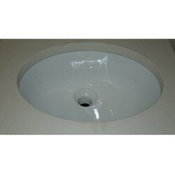 Fine Fixtures White Oval Ceramic Undermount Sink