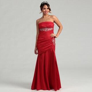 Hailey Adrianna Papell Women's Beaded Empire Waist Gown Dress