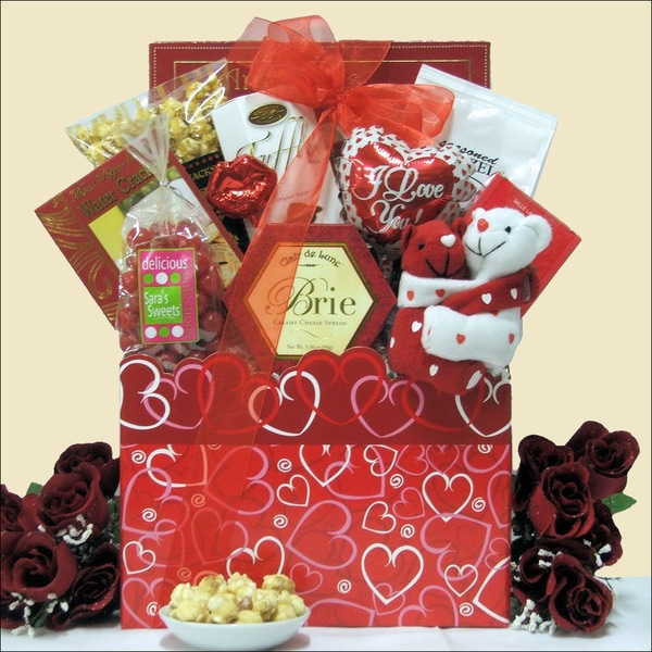 Great Arrivals 'Hugs and Kisses' Valentine's Day Gourmet Gift Basket