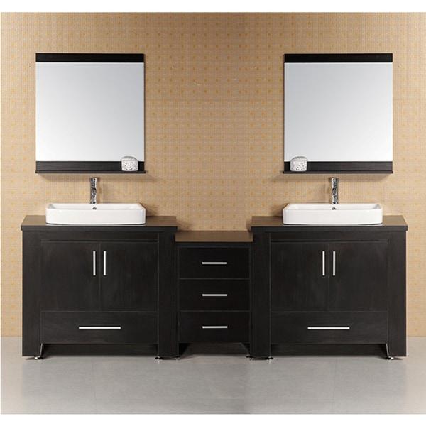 Design Element Washington Modular Double-Sink Bathroom Vanity Set