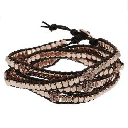 Coppertone Rhinestone Wrap-around Bracelet