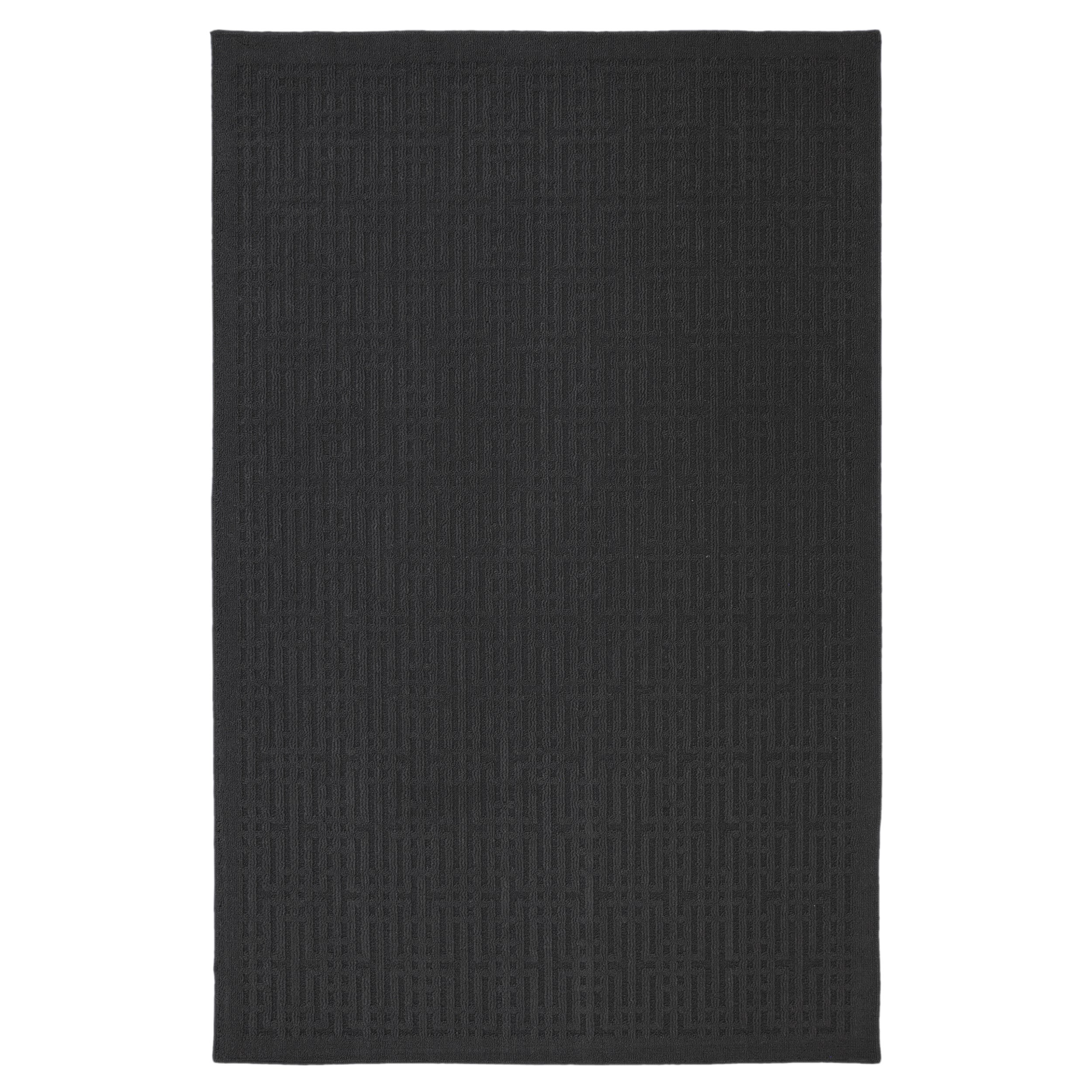 Stacks Dark Charcoal Rug (1'8 x 2'10)