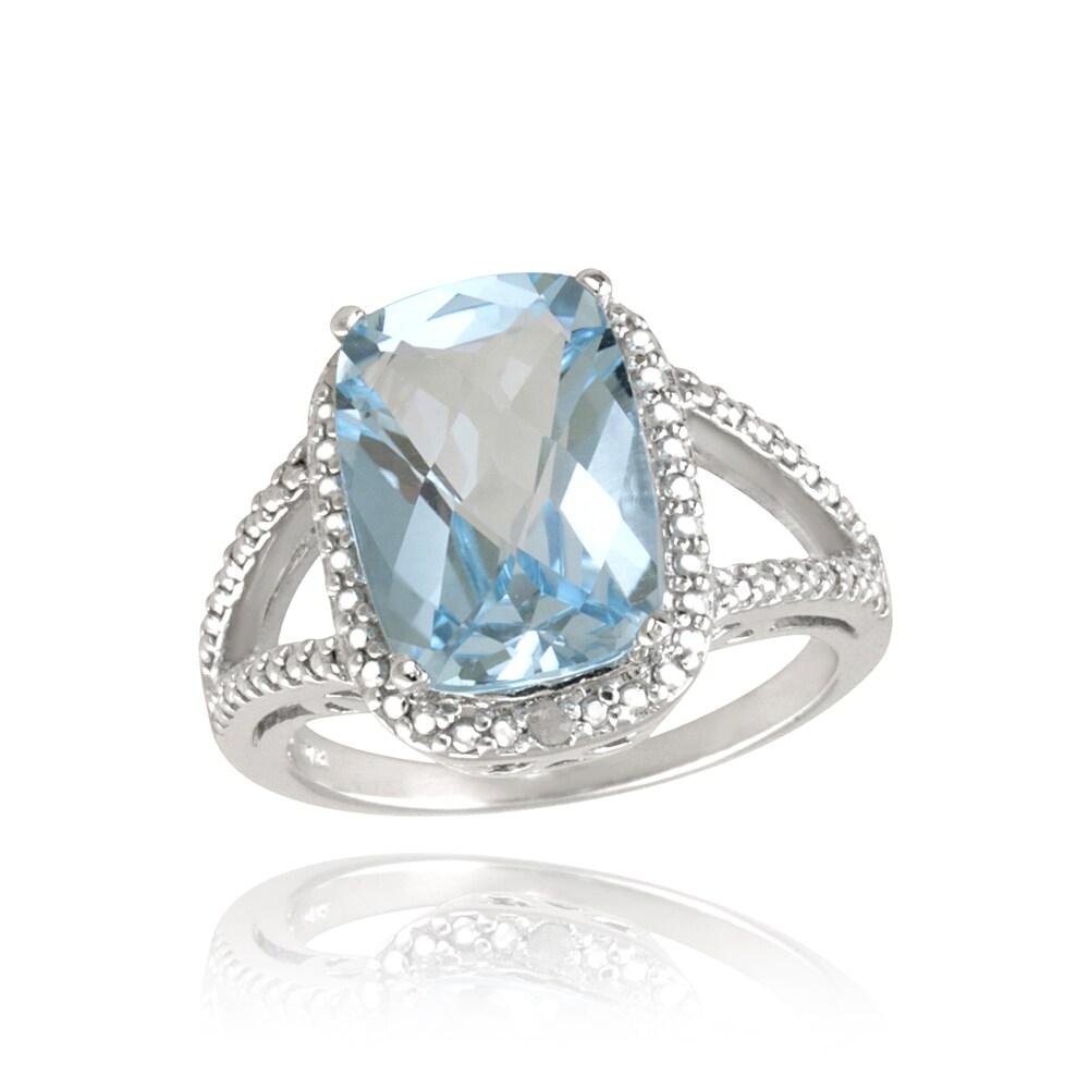 shop glitzy rocks sterling silver blue topaz and diamond. Black Bedroom Furniture Sets. Home Design Ideas
