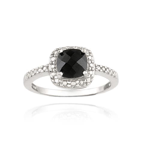 Glitzy Rocks Sterling Silver Black Spinel Ring (1 3/4ct TGW)