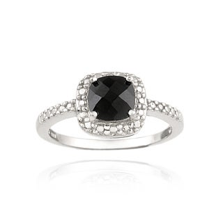 Glitzy Rocks Sterling Silver Black Spinel Ring (1 3/4ct TGW)