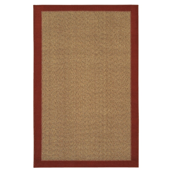 Reed Crimson Red/Tan Polyester Rug (2'6 x 3'10)