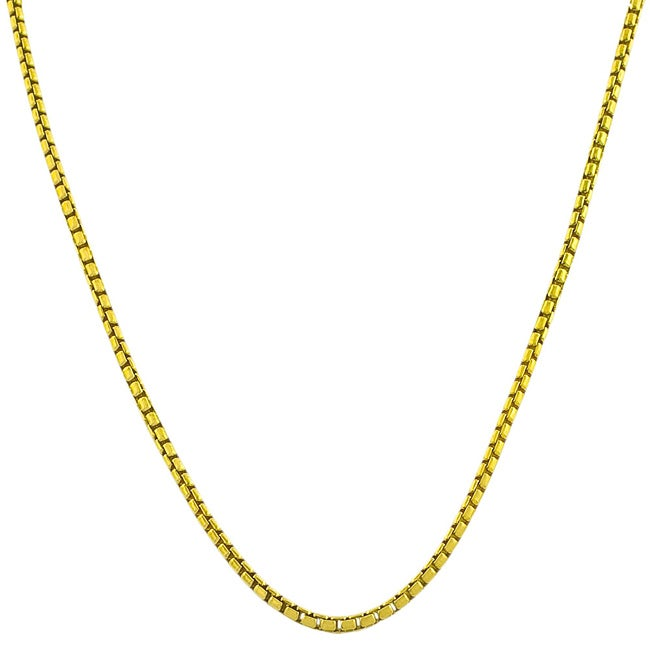 Fremada Gold over Silver 18-inch 1.1-mm Round Box Chain