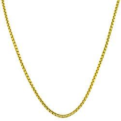 Fremada Gold over Silver 18-inch 1.1-mm Round Box Chain