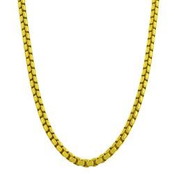 Fremada Gold over Silver 24-inch 3.8-mm Round Box Chain