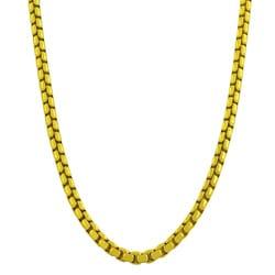 Fremada Gold over Silver 20-inch 3.8-mm Round Box Chain