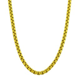Fremada Gold over Silver 18-inch 3.8-mm Round Box Chain