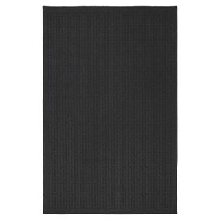 Stacks Dark Charcoal Grey Rug (5' x 7')
