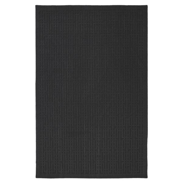 Porch & Den Park Circle Marlboro Dark Charcoal Grey Rug (5' x 7')