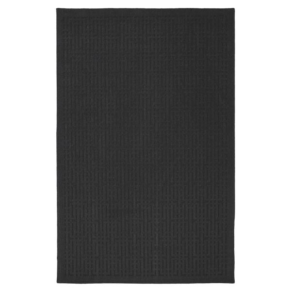 Stacks Dark Charcoal Grey Rug (5' x 7')