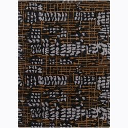 Artist's Loom Hand-tufted Contemporary Abstract Wool Rug (7'x10') - Thumbnail 0