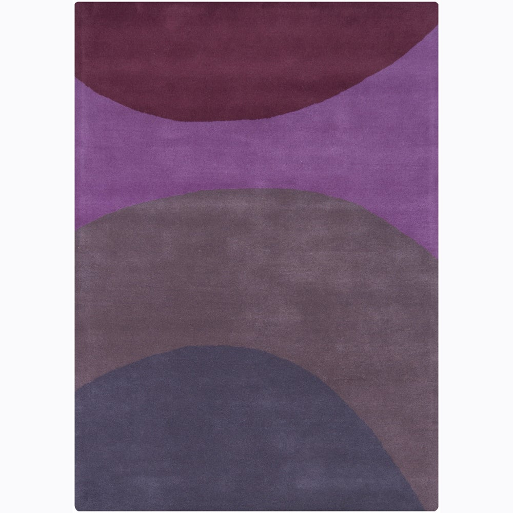 Artist's Loom Hand-tufted Contemporary Geometric Wool Rug - 7' x 10'