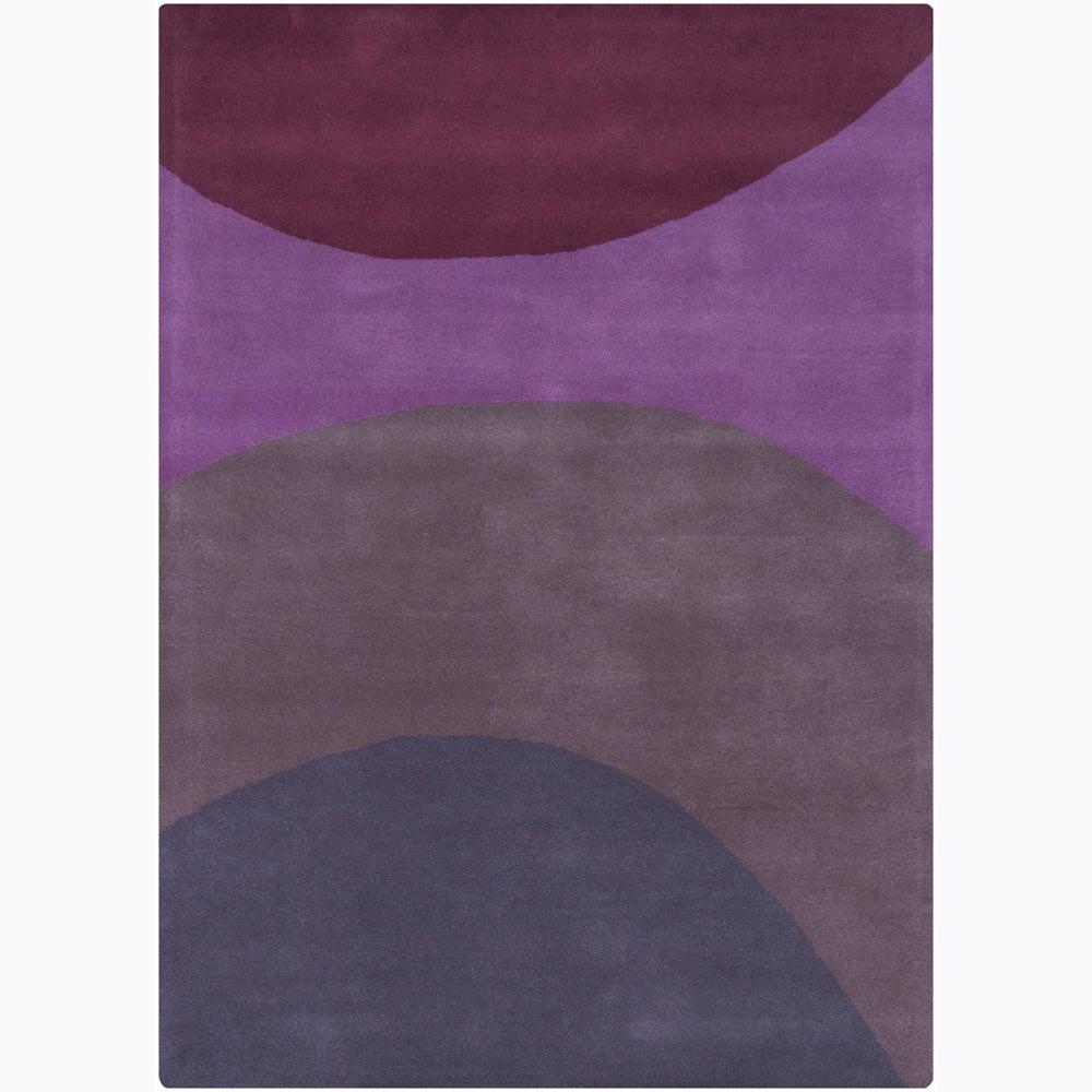 Artist's Loom Hand-tufted Contemporary Geometric Wool Rug - 9' x 13'
