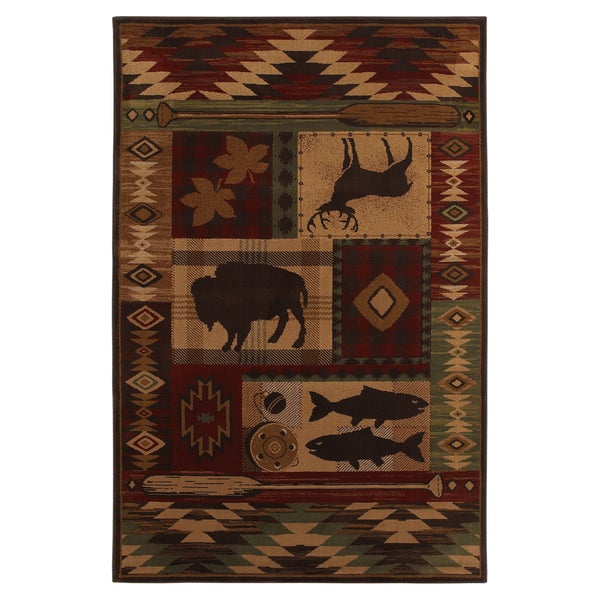 Wyoming Rust Rug (5'3 x 7'10)