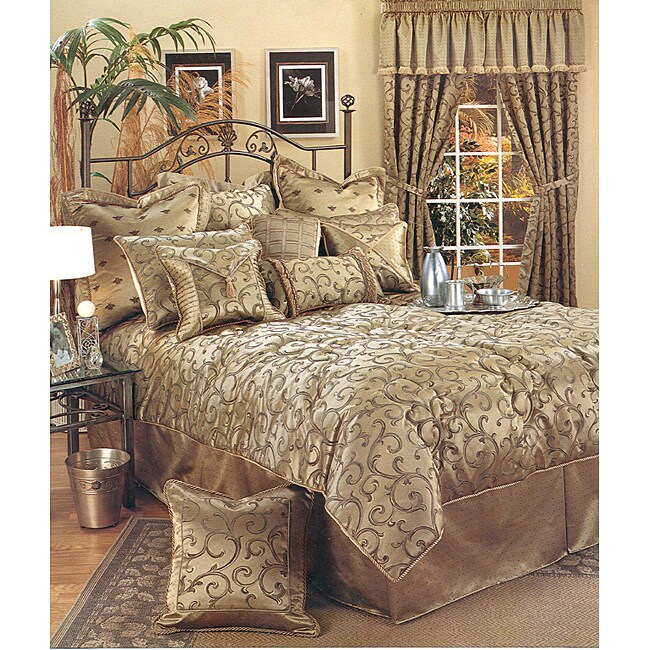 sherry kline 39 bellagio 39 6 piece queen size comforter set