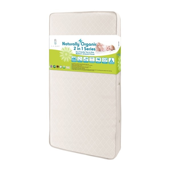 Eco Friendly 2-in-1 Soy Foam Crib Mattress with Natural Coconut Fiber and Cotton Layer