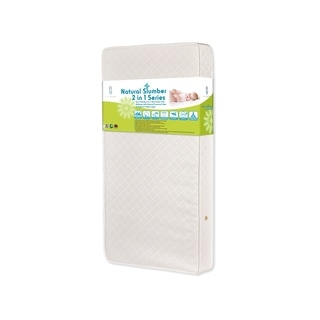 LA Baby Eco Friendly 2-in-1 Soy Foam Crib Mattress with Natural Coconut Fiber and Organic Cotton Layer