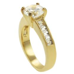 Journee Collection  Goldtone Cubic Zirconia Ring - Thumbnail 1