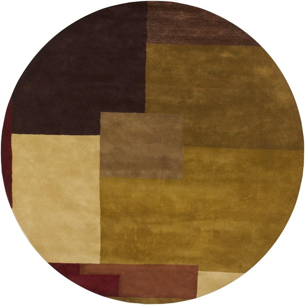 Hand-tufted Mandara New Zealand Wool Rug (9' Round)