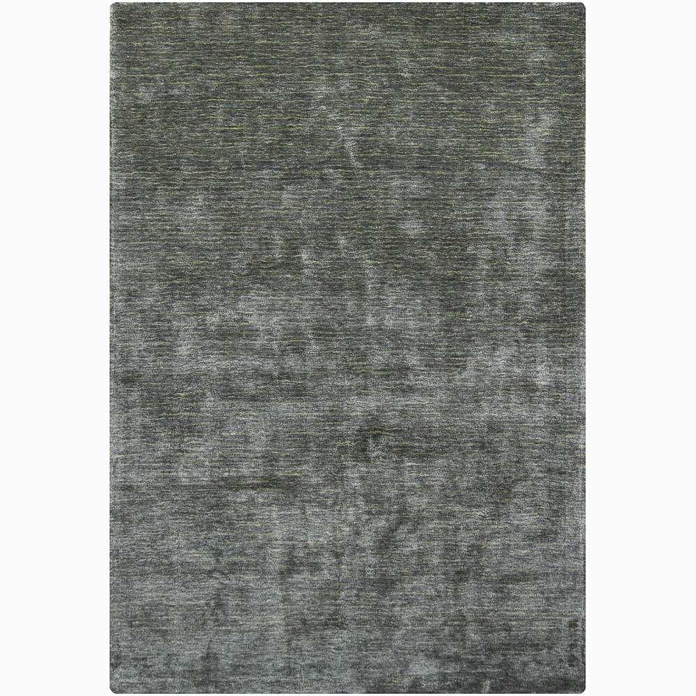 Artist's Loom Hand-woven Casual Solid Rug (7'9 x 10'6) - 7'9 x 10'6