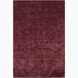 Artist's Loom Hand-woven Casual Solid Rug - 7'9 x 10'6 - Thumbnail 0