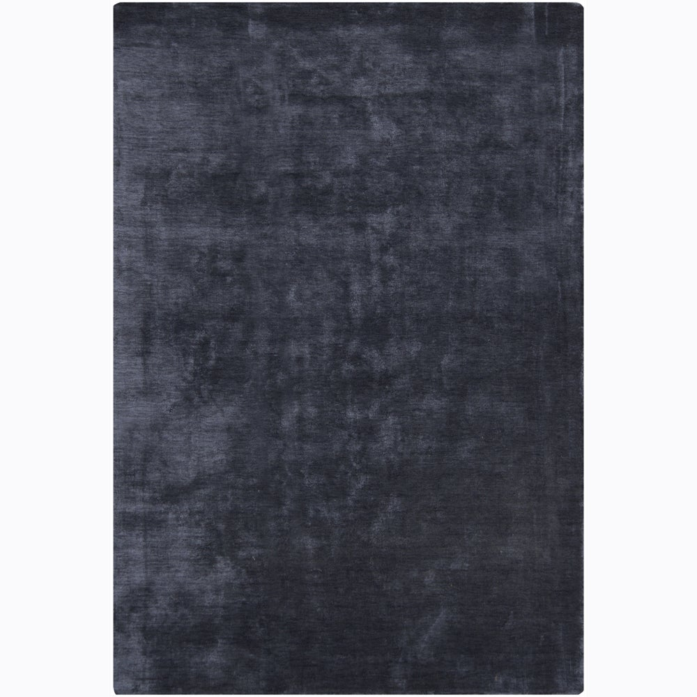 Artist's Loom Hand-woven Casual Solid Rug - 5' x 7'6