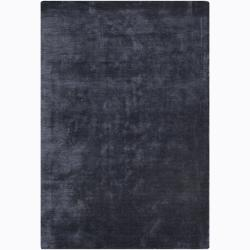 Artist's Loom Hand-woven Casual Solid Rug - 5' x 7'6 - Thumbnail 0
