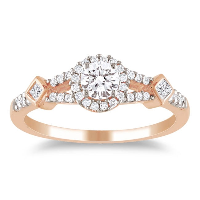Miadora 10k Pink Gold 1/2ct TDW Diamond Ring (G-H, I1-I2)