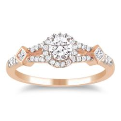 Miadora 10k Pink Gold 1/2ct TDW Diamond Ring (G-H, I1-I2)