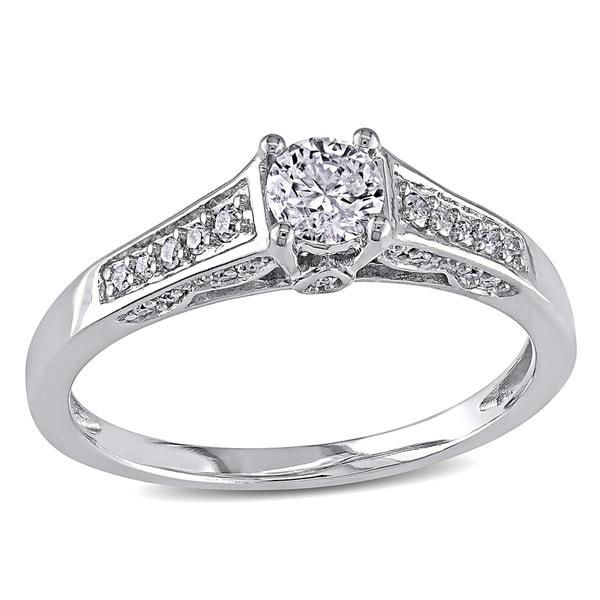 Miadora Signature Collection 14k White Gold 1/2ct TDW Diamond Ring