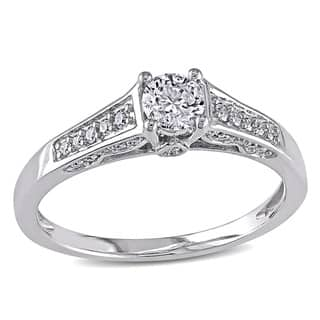 Miadora Signature Collection 14k White Gold 1/2ct TDW Diamond Ring|https://ak1.ostkcdn.com/images/products/6464256/P14061101.jpg?impolicy=medium