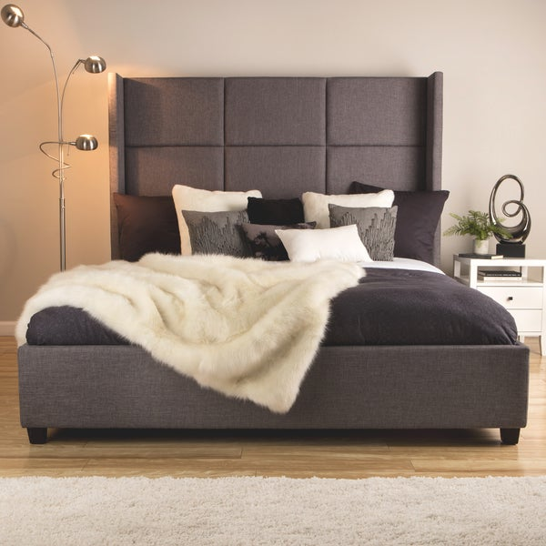jillian upholstered king size bed