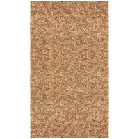 Hand-tied Pelle Tan Leather Shag Rug - 8' x 10'