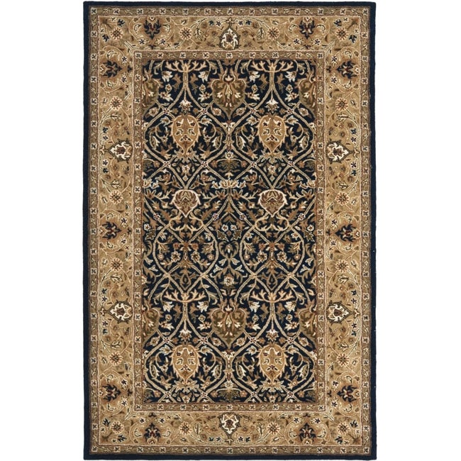 Safavieh Handmade Mahal Blue/ Gold New Zealand Wool Rug (4' x 6')