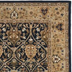 Safavieh Handmade Mahal Blue/ Gold New Zealand Wool Rug (4' x 6') - Thumbnail 1
