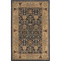 Safavieh Handmade Mahal Blue/ Gold New Zealand Wool Rug (4' x 6')